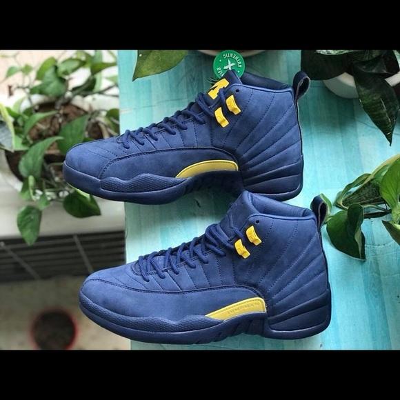 cheap for discount 7859a 86fe6 Nike Air Jordan Retro 12 XII Michigan Blue